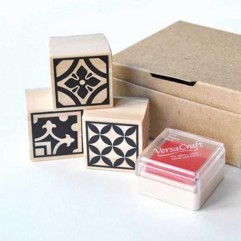 Pack de 3 sellos Baldosas Hidráulicas (Modelo 1)