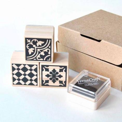 Pack de 3 sellos Baldosas Hidráulicas (Modelo 2)