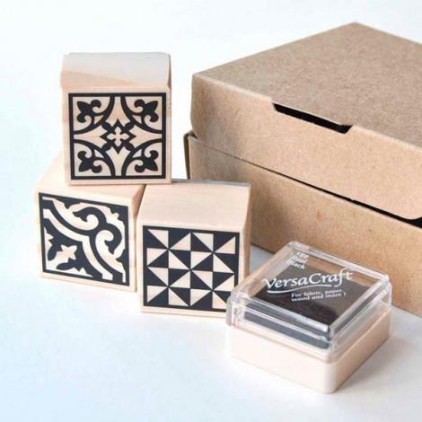 Pack de 3 sellos Baldosas Hidráulicas (Modelo 3)
