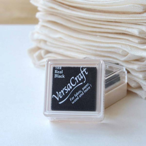 Mini tinta VersaCraft Real Black (papel, tela y madera)