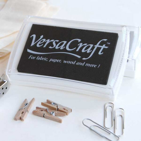 Tinta VersaCraft Real Black para papel, madera y tela